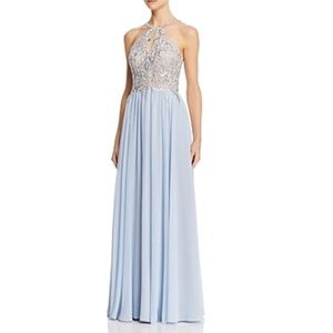 Avery G Embroidered Chiffon Gown dress 8
